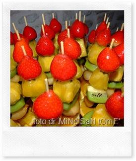 la ricetta degli spiedini di frutta al miele