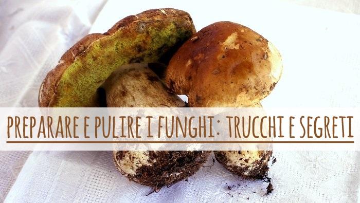 Preparare e pulire i funghi, trucchi e segreti