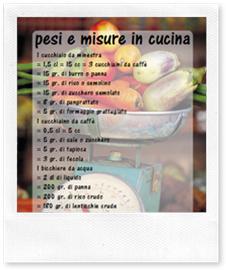 Pesi e misure in cucina senza bilancia casa organizzata - Acari in cucina ...