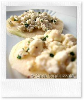 Menu di Natale: tartine di mela Granny con formaggio Chèvre