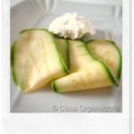 Ricette veloci: carpaccio di zucchine con robiola fresca