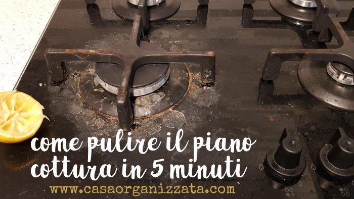 Come pulire il piano cottura in 5 minuti con detersivi naturali