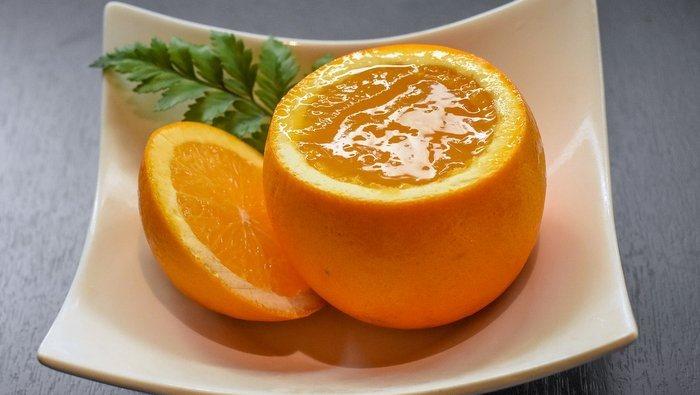 presentazione ricetta gelatina di arance