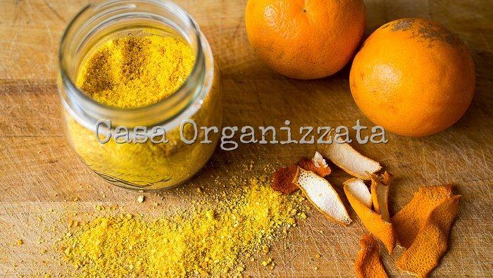 come fare la polvere di buccia di arancia essiccata