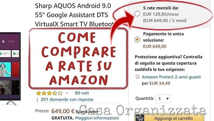 come comprare a rate su Amazon, occhio alle condizioni