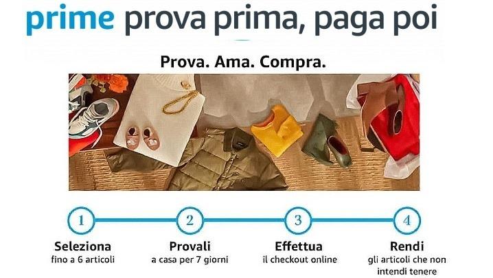 Amazon Prime Prova prima, paga poi prova i capi invernali pagandoli dopo